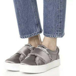 Sam Edelman 8 Levine Slip On Sneaker Shoes Silver